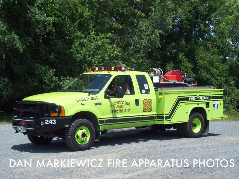 MONTOUR TOWNSHIP FIRE CO. BRUSH 243 2001 FORD/KNAPHEIDE BRUSH UNIT