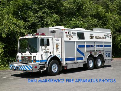 ESPY FIRE CO. RESCUE 181 2001 MACK/KME HEAVY RESCUE
