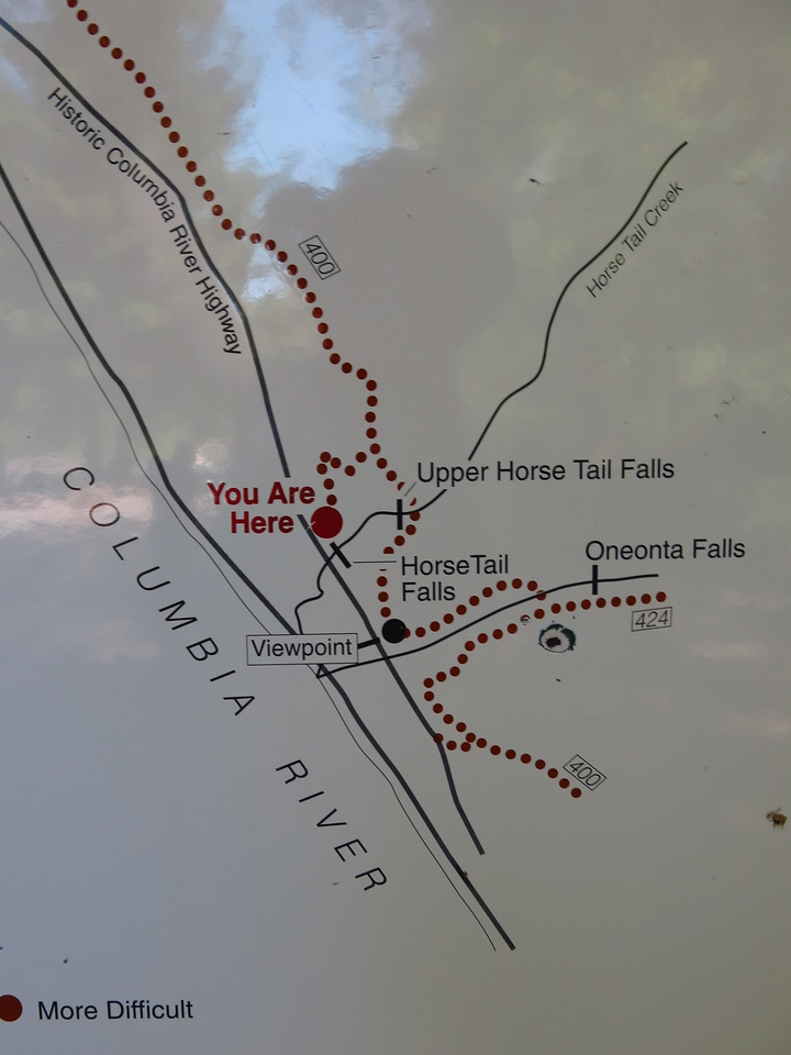 Horsetail Falls Trail Map