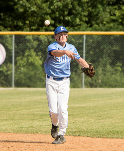 1F1A1957 jpg CHS second baseman Tate Schilling fires to first for an out in the top of the second