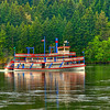 Sternwheeler Columbia Gorge On the Columbia River Near Cascade Locks Oregon