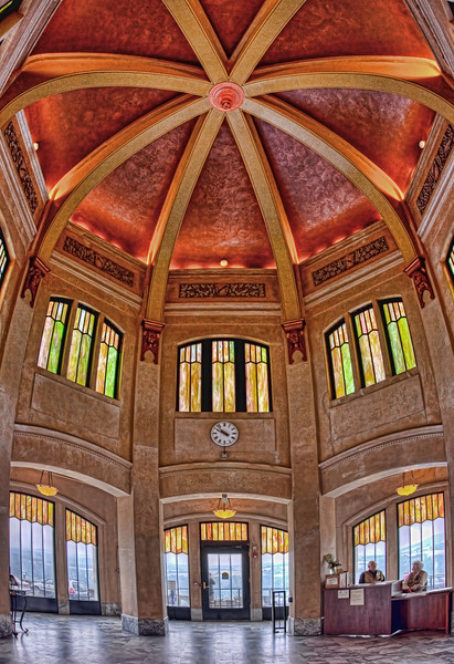 The Interior of the Vista House on Crown Point in the Columbia River Gorge Oregon