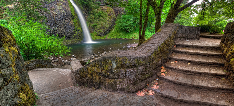 Rocky Butte Prision Rock Work at Horsetail Falls