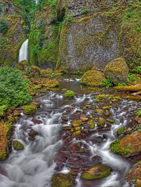 Wahclella Falls and Tanner Creek