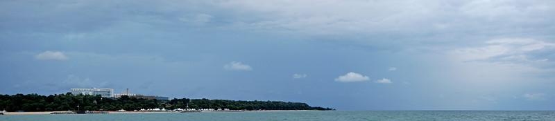 A view from the breakwall of Columbia St. Mary's hospital on a stormy August morning. 2012