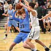 STAN HUDY - SHUDY@DIGITALFIRSTMEDIA.COM<br /> Columbia sophomore Grace Heeps picks up her dribble and looks to get around Shenendehowa's Alex Tudor in the lane duirng the first half battle of top 10 teams in New York State Friday, Jan. 20, 2017.