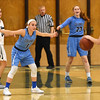 STAN HUDY - SHUDY@DIGITALFIRSTMEDIA.COM<br /> Columbia's Alexis VanVorst (1) stands atop the Blue Devils zone against Shenendehowa's Cam Tooley  Friday, Jan. 20, 2017 during their Suburban Council game at Shenendehowa High School.