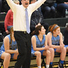 STAN HUDY - SHUDY@DIGITALFIRSTMEDIA.COM<br /> Columbia's coach Sean McGraw is loling for some hands up from his defense Friday, Jan. 20, 2017 during their Suburban Council game at Shenendehowa High School.