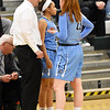 STAN HUDY - SHUDY@DIGITALFIRSTMEDIA.COM<br /> Columbia's Grace Heeps (23) talks to Blue Devils Coach Sean McGraw Friday, Jan. 20, 2017 during their Suburban Council game at Shenendehowa High School.