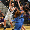 STAN HUDY - SHUDY@DIGITALFIRSTMEDIA.COM<br /> Shenendehowa junior Alex Tudor goes up for a jump hook shot late in the fourth quarter against Columbia at home in a battle of top 10 teams in New York State Friday, Jan. 20, 2017.