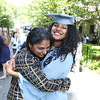 Pratishta  Yerakala being greeted by her mom an Indian American among with hundereds Graduated 2017 ceremony of top IVY league  Columbia University in the City of New York wed 16th 2017...pic Mohammed jaffer-snapsindia