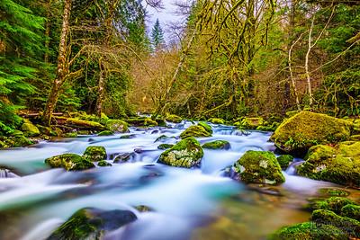 """Tranquil Flow,"" Rock Creek, Gifford Pinchot National Forest, Washington"