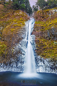 """Horsetail Ice,"" Horsetail Falls Deep Freeze, Columbia River Gorge, Oregon"