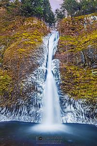 """Horsetail Ice,"" Horsetail Falls Deep Freeze, Columbia River Gorge, Oregon"