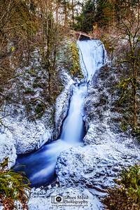 """Cold Flow,"" Bridal Veil Falls Deep Freeze, Columbia River Gorge, Oregon"
