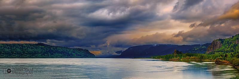 """Wrath of the Clouds,"" Columiba Gorge Storm, Columbia River Gorge, Oregon"