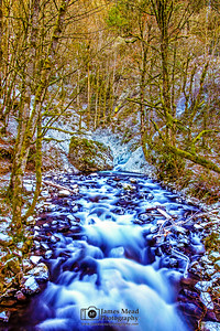 """Cold Beauty,"" Winter on Bridal Veil Creek, Bridal Veil Creek, Columiba River Gorge, Oregon"