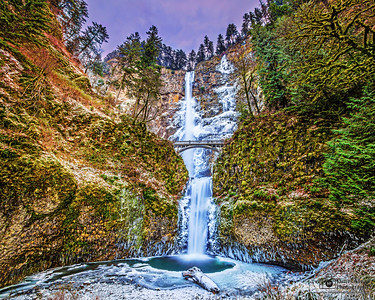 """Winter Symphony,"" Multnomah Falls Winter Deep Freeze, Columbia River Gorge, Oregon"