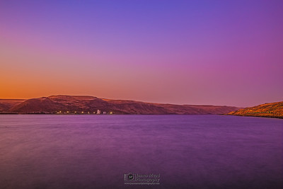 """Purple River,"" Columbia River at Sunset, Columbia River Gorge, Oregon"