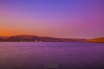 """Purple River,"" Columbia River at Sunset, Columbia River Gorge, Oregon"