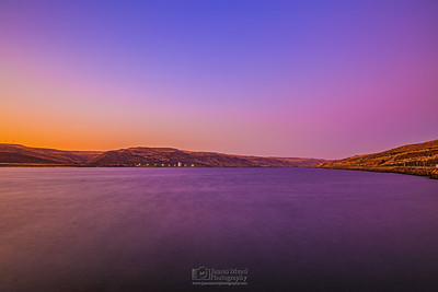 """""""Close of Day,"""" Alpenglow Sunset over the Columbia River, Columbia River Gorge, Oregon"""