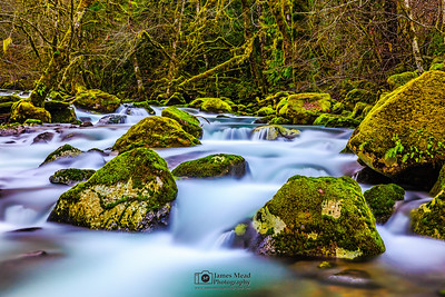 """Silk On The Rocks,"" Rock Creek, Gifford Pinchot National Forest, Washington"