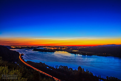 Twilight over Portland, Columbia River Gorge National Scenic Area