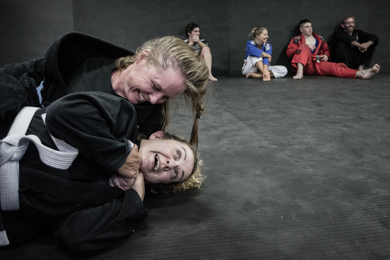 This is what jiu jitsu is about, choking people and having fun doing it.  - http://www.hobartmartialartsacademy.com.au  9 Feb 2017  © Fiona Gumboots - http://www.thegumbootchronicles.com All images are copyright and not to be reproduced, distributed, published, altered, manipulated or used without my permission.  Sharing via the 'share' button on facebook is more than welcome.