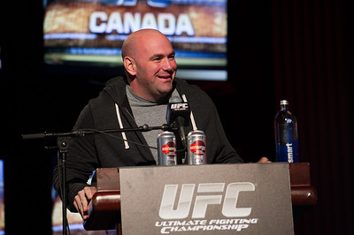 UFC Press Conference in Calgary, Canada with Dana White and Tom Wright announcing UFC 149 - Copyright combatcaptured.com