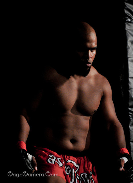 Bruce McDowell enters the ring. Although he will dominate the fight, he will ultimately be disqualified for delivering an illegal knee to the head of his downed opponent.