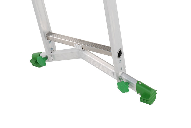Industrial Combination ladder, step ladder & extension ladder with adjustable stabiliser