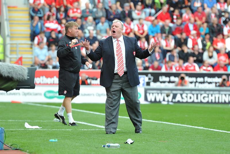 Steve Evans - Rotherham United v Wolverhampton Wanderers 16/08/14