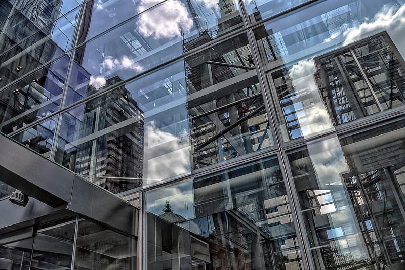 Comcast Center Lobby  Clouds