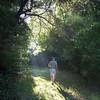Hiking into the sunbeams