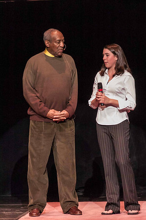 Bill Cosby with LIU Post Student.