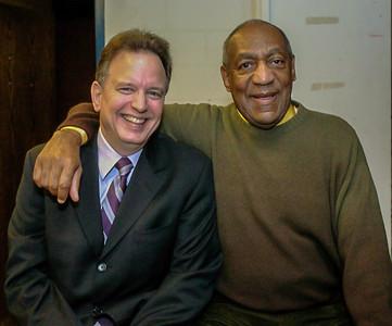 Dr. Elliot Sroka (left), and Bill Cosby.