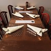 Comeketo Brazilian Steakhouse in Leominster held a ribbon cutting on Friday afternoon to show off their newly renovated restaurant. One of the new tables at the newly renovated restaurant. SENTINEL & ENTERPRISE/JOHN LOVE