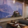 Comeketo Brazilian Steakhouse in Leominster held a ribbon cutting on Friday afternoon to show off their newly renovated restaurant. This pictures of the Christ the Redeemer Statue in Rio de Janeiro is one of the many pictures from Brazil that now hang on the wall of the newly renovated restaurant. SENTINEL & ENTERPRISE/JOHN LOVE