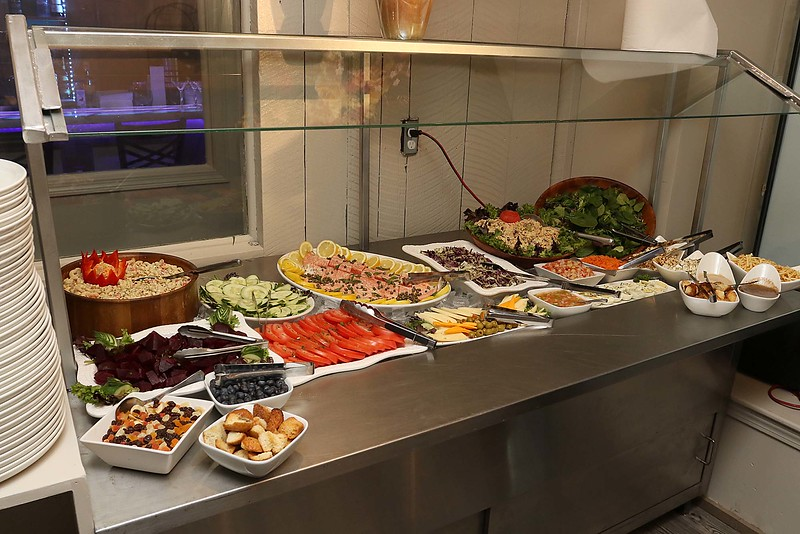 Comeketo Brazilian Steakhouse in Leominster held a ribbon cutting on Friday afternoon to show off their newly renovated restaurant. Some of the food at their salad bar. SENTINEL & ENTERPRISE/JOHN LOVE