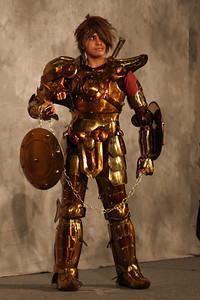 Saint Seiya – Gold Knights  Honorable Mention for Workmanship and Anime Pavilion Best Japanese-related Entry:  Worn By: Edgar Mayoral. Designed and Made By: Edgar Mayoral.
