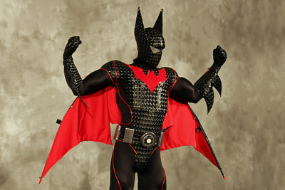 Enhanced Power Suit Batman Beyond  DC Comics Company Award  Worn By: Larry J. Smith. Designed and Made By: Larry J. Smith.
