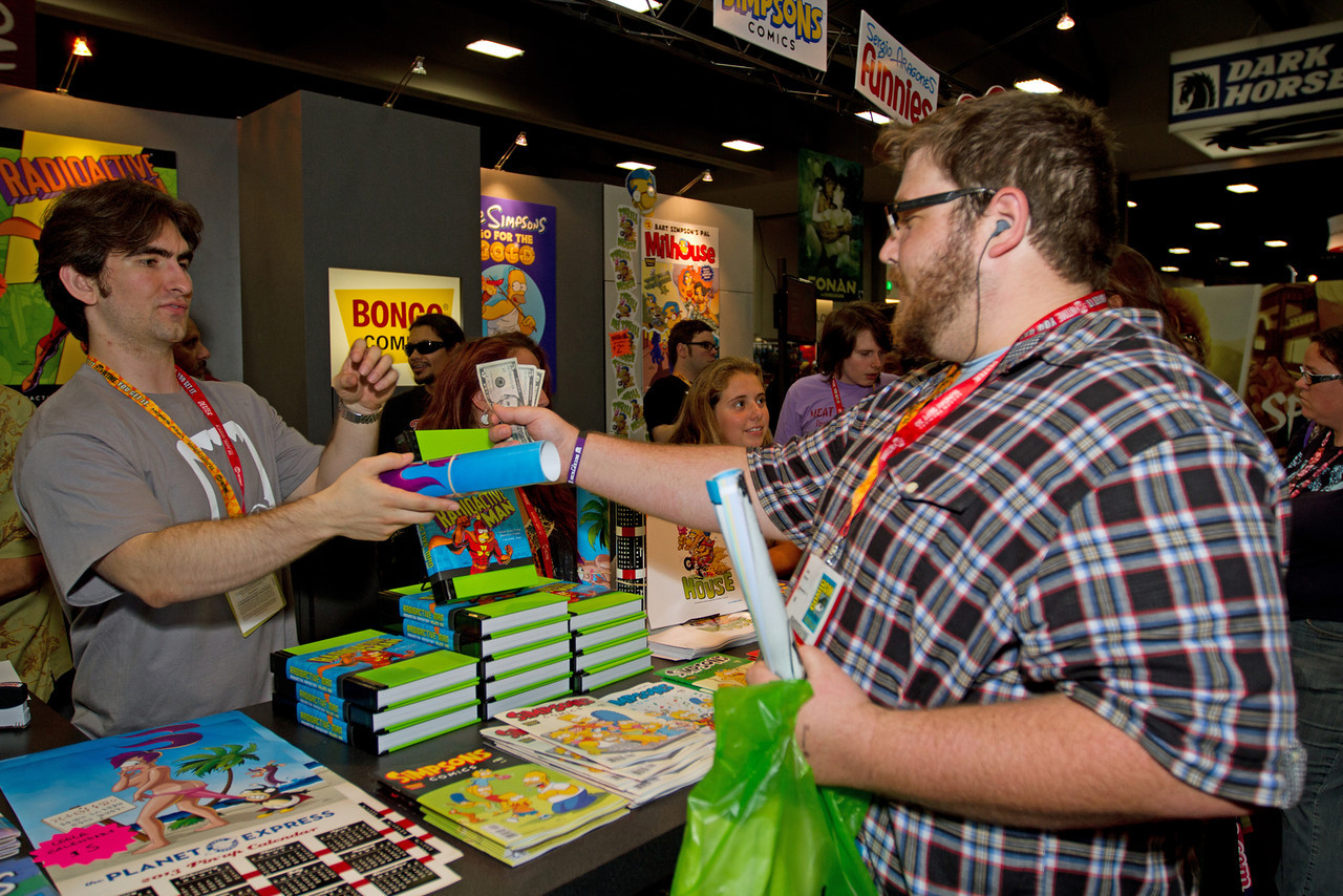One of our quests was to visit the Futurama booth and get the Planet Express 2013 calendar. <br /> <br /> Shut up and take my money!