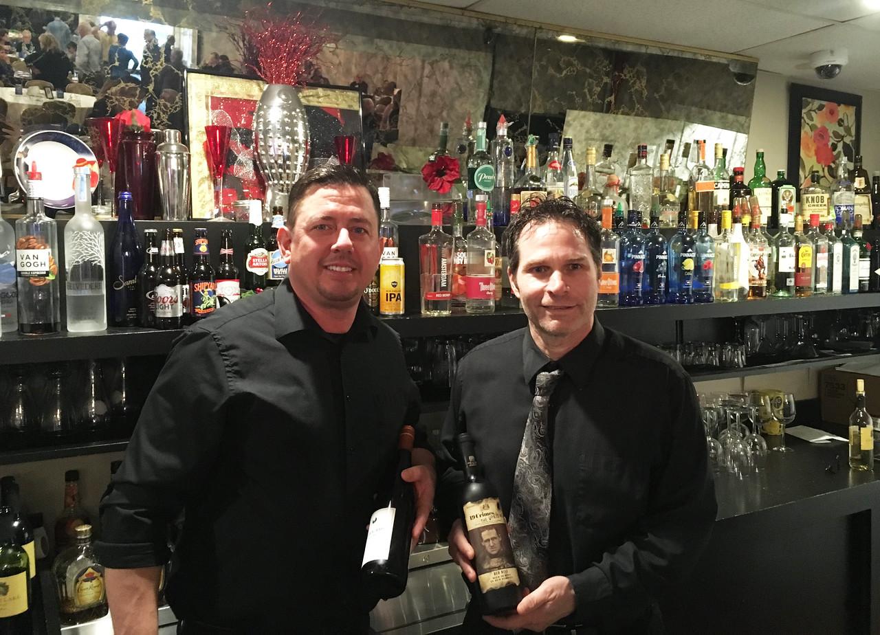 Lenzi's bartenders Kenny Fleming of Dracut and Tony Lorenzo of Pelham