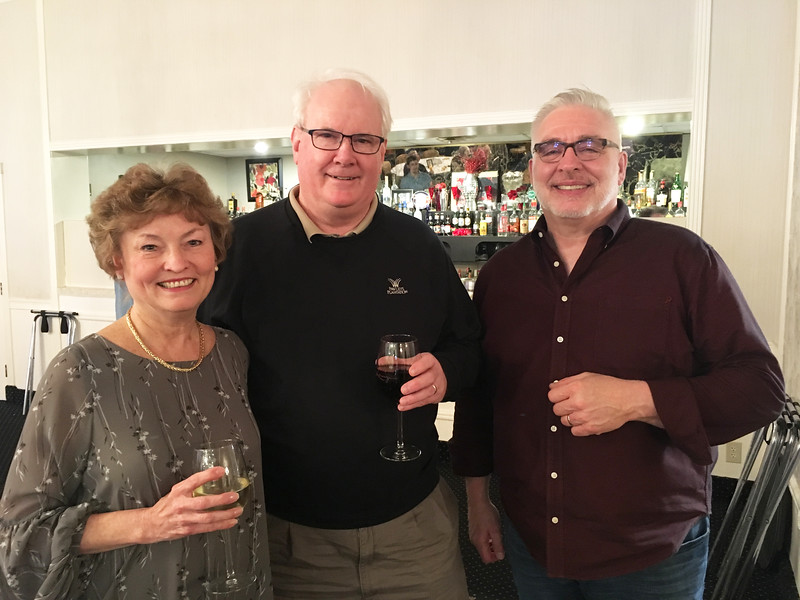 From left, Donna and Bill Fulton of Tyngsboro, and Michael Payette of Dracut and Events Sound System