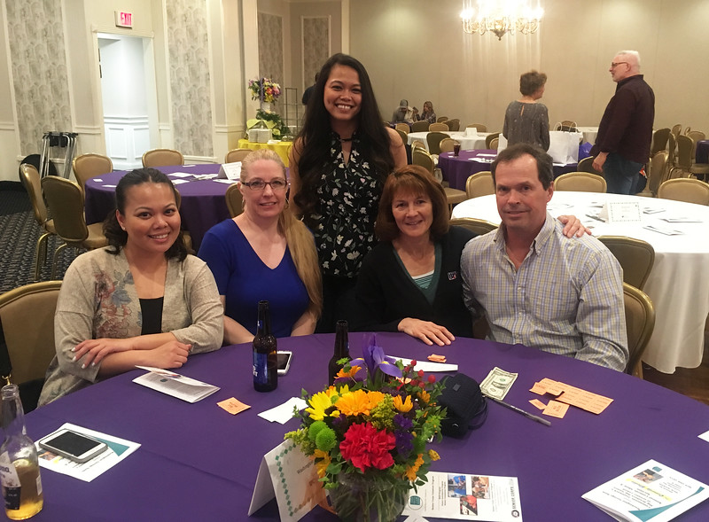 The Washington Savings Bank crew, from left, Vy Kong of Lowell, Meg Williams of Nashua, Vitcha Kong of Lowell, and Melanie and John Hire of Dracut