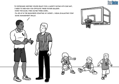 """I kid you not…this actually happened in a high school unit out of Southern California. Referees were mandated to work recreational 3rd grade basketball WITHOUT PAY towards their """"ratings."""" It would have been a humorous situation if it didn't completely reek of corruption.   Having to work unpaid scrimmages is a practice that has to end.  Do Work, Get Paid — it is one of Ref Union's signature policies. Check out our stance on other issues in grassroots officiating at refunion.net/battles."""