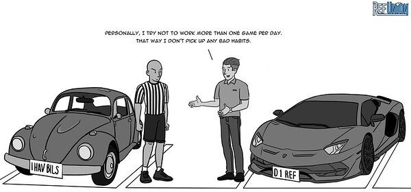 """It's getting really disheartening how some Division 1 referees are losing touch with the struggles of the grassroots official. Yesteryear, even NBA legends like Joey Crawford would talk about how they used to work 10+ games in a day to get experience and to see as many plays as possible. They also understood that for younger officials, recreational basketball can be an important source of income.  These days, some prominent NCAA """"mentors"""" are discouraging and even shaming referees for working too much club basketball.   We get it. If you overwork yourself at the recreational level, you could develop some bad habits. But at the same time, it's easy to talk when you're making $3,000 per game in the winter season and when you're not helping pay these young officials' bills. Furthermore, a lot of these young guys are working 10+ games per day to be able to afford the obnoxious camp fees to go see you, get critiqued, get better, and hopefully stop having to work YMCA basketball to make ends meet.  Ref Union challenges our Division 1 colleagues to step down from their ivory towers back to the club basketball level to help make it better for younger officials. Throw some of your weight behind our collective bargaining process. Cast your shade at the assignors that pay the horrible rates causing grassroots referees to have to work dozens of games just to pick up a decent paycheck. Don't look down upon young officials' struggles working a level of basketball that you now consider beneath you."""