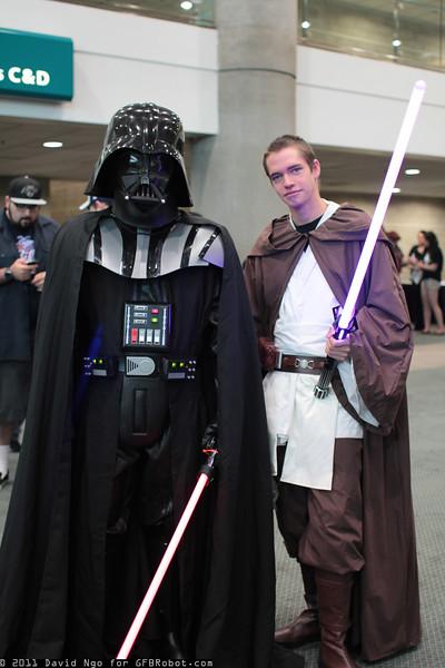Darth Vader and Obi-Wan Kenobi