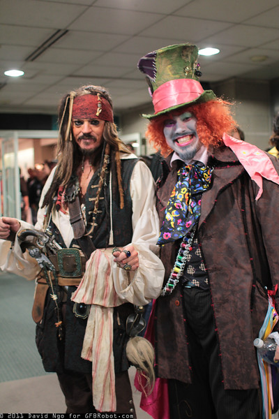 Captain Jack Sparrow and Mad Hatter