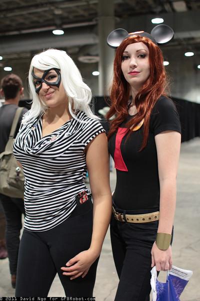 Black Cat and Black Widow